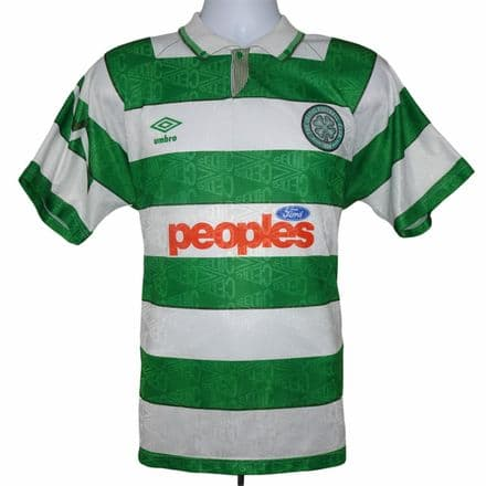 1991-1992 Celtic Home Football Shirt Umbro Large (Excellent Condition)